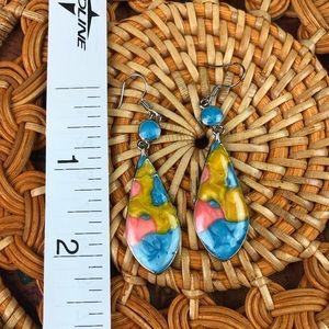 Jewelry - 3/$20 Silver Turquoise Drop Earrings